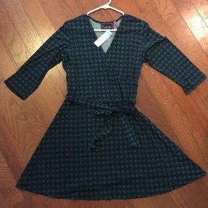 Brand New Leota Faux Wrap Dress Size XL